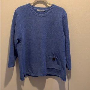 Women's NWT Lulu B periwinkle top. Soft! Size XL.